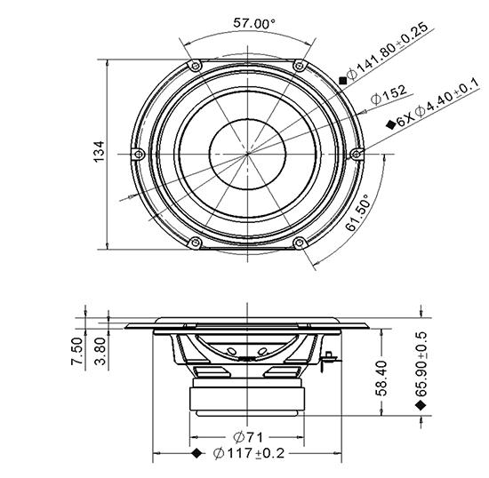 SDS134-THP-830656 dimensions