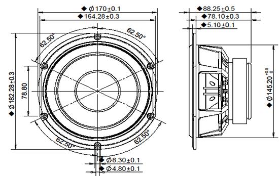 hds164-alu-835025 dimensions