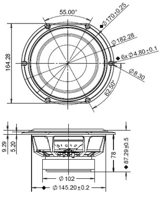 hds164-ppb-830874 dimensions