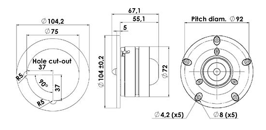 r2604-8330-00 dimensions